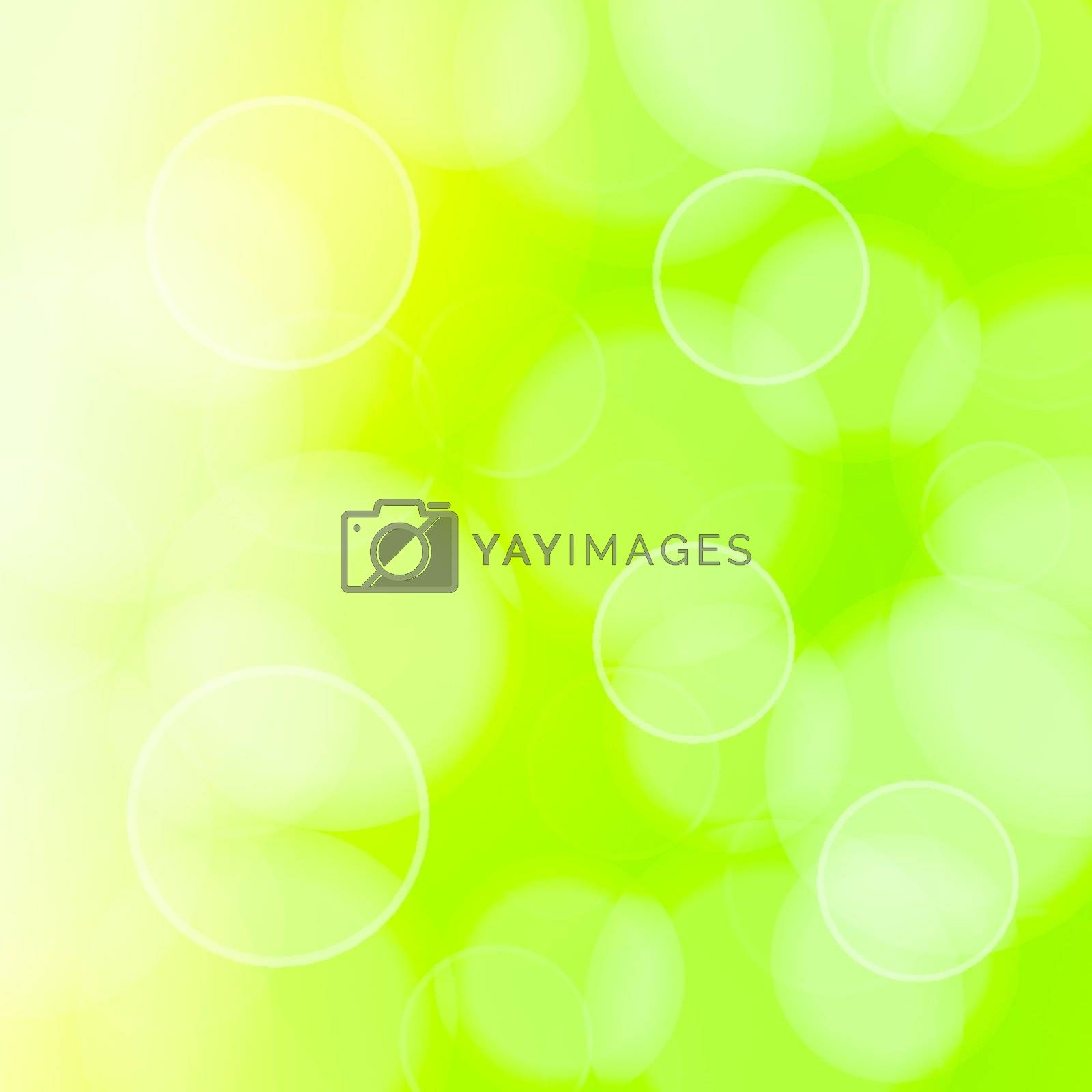 Vector Illustration of bokeh circles in green color
