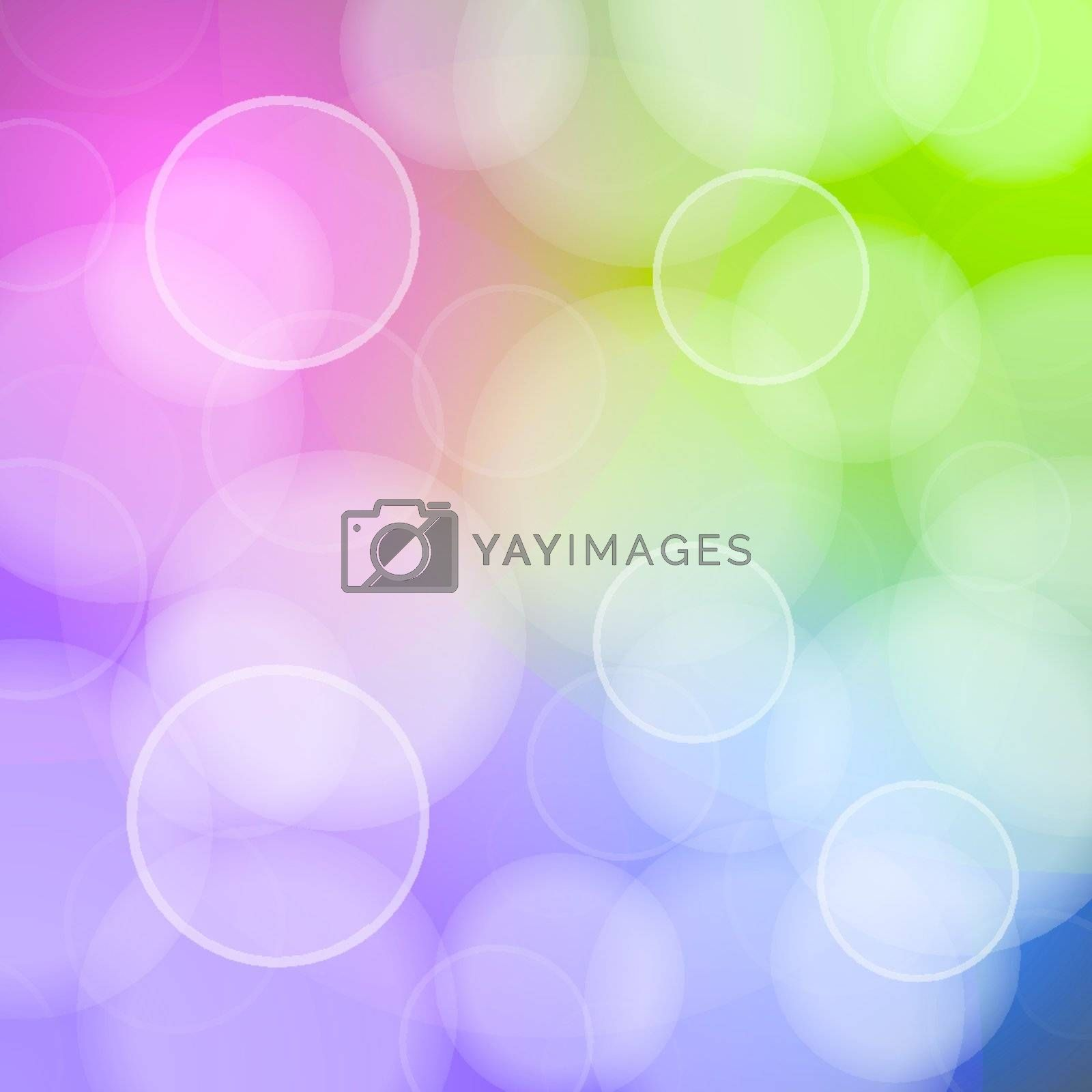 Scalable vector of bokeh circles with red green blue and purple colors