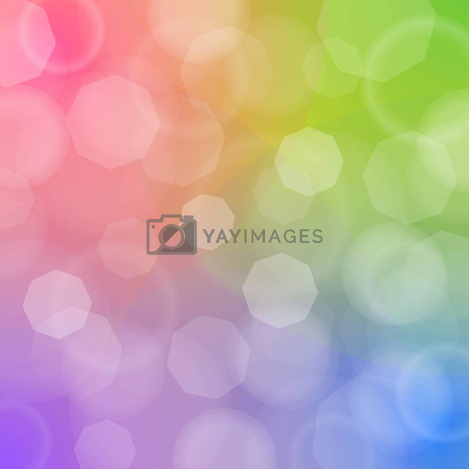 Vector Illustration of blured lights with red green blue and purple colors
