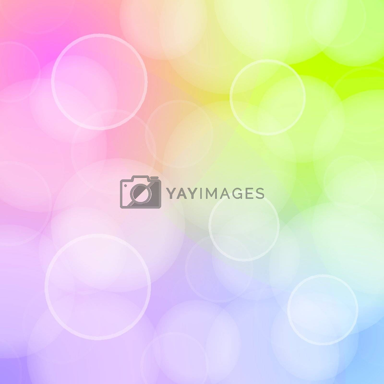 Blured circles of bokeh on colorful background by zager