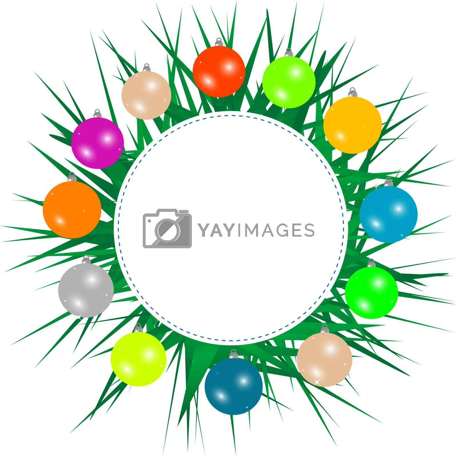 New year background with christmas tree branches by fotoscool