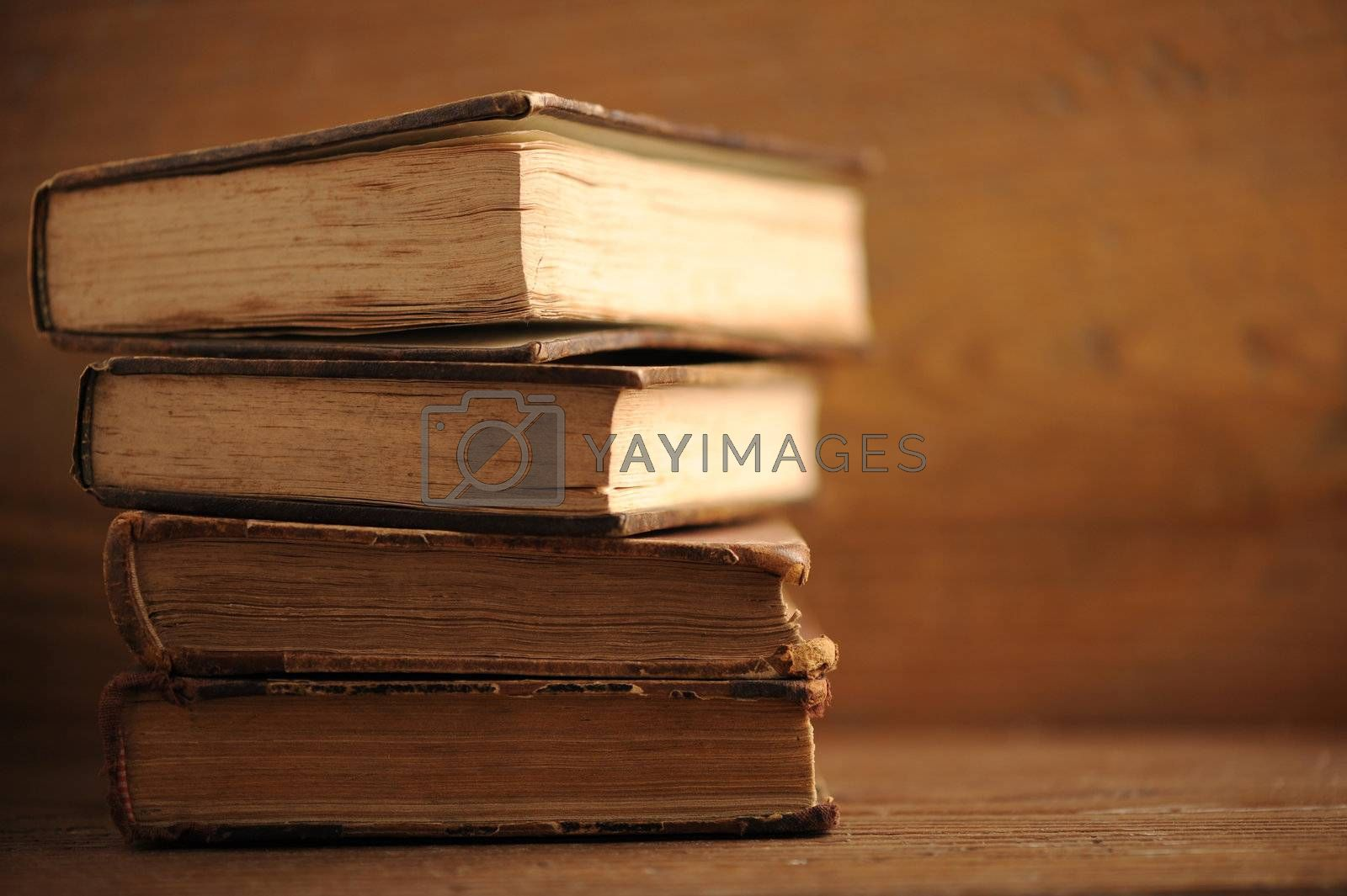 old book close up, soft focus