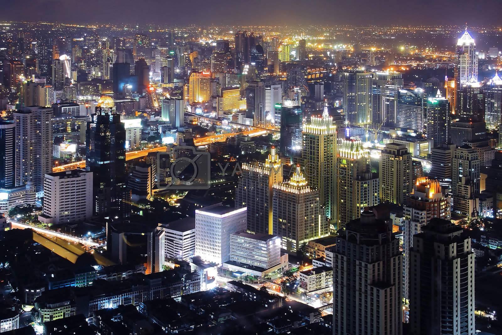 Bangkok Top View at Night