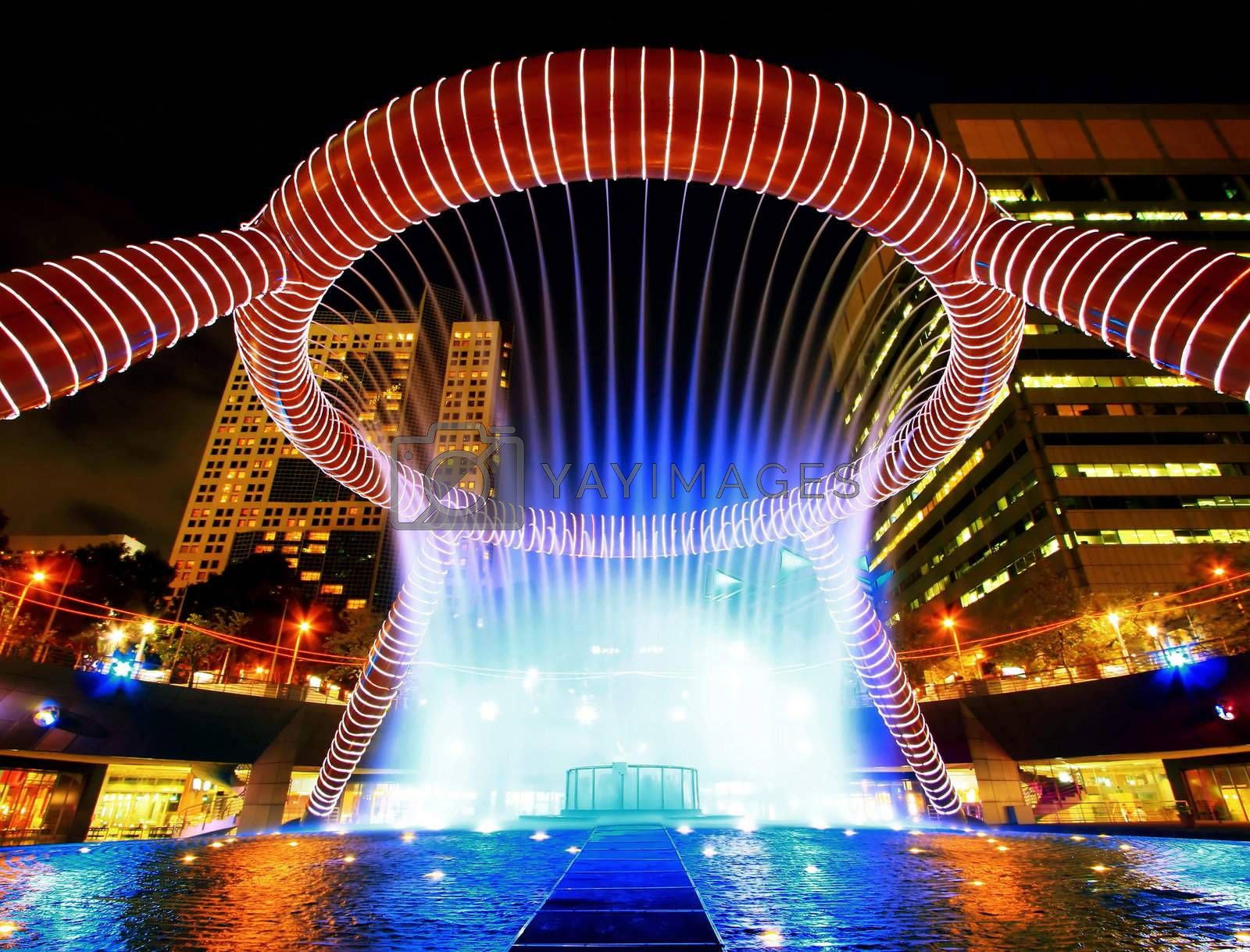fountain of wealth landmark of Singapore