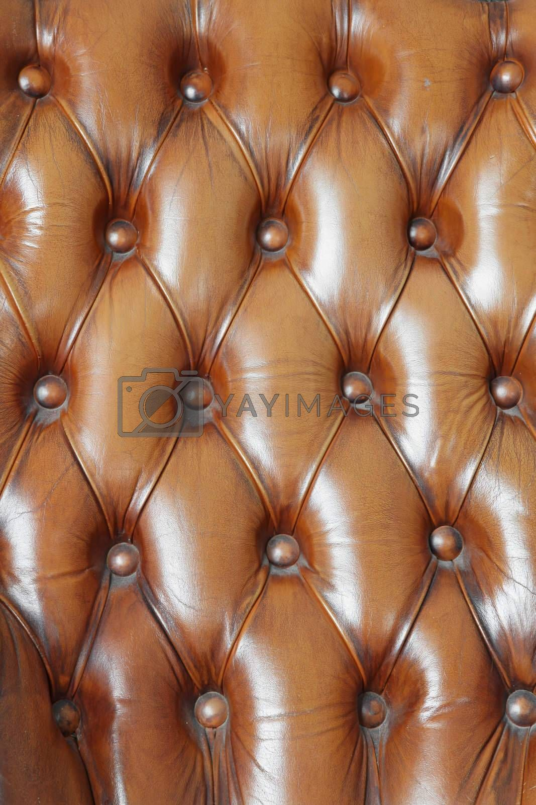 pattern of brown genuine leather texture using as background