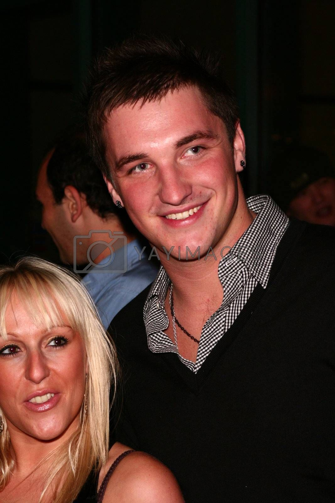 Nikki Grahame and Liam McGough attends the OK Perfume Launch Party at Crystal Club on November 1, 2007 in London, United Kingdom.