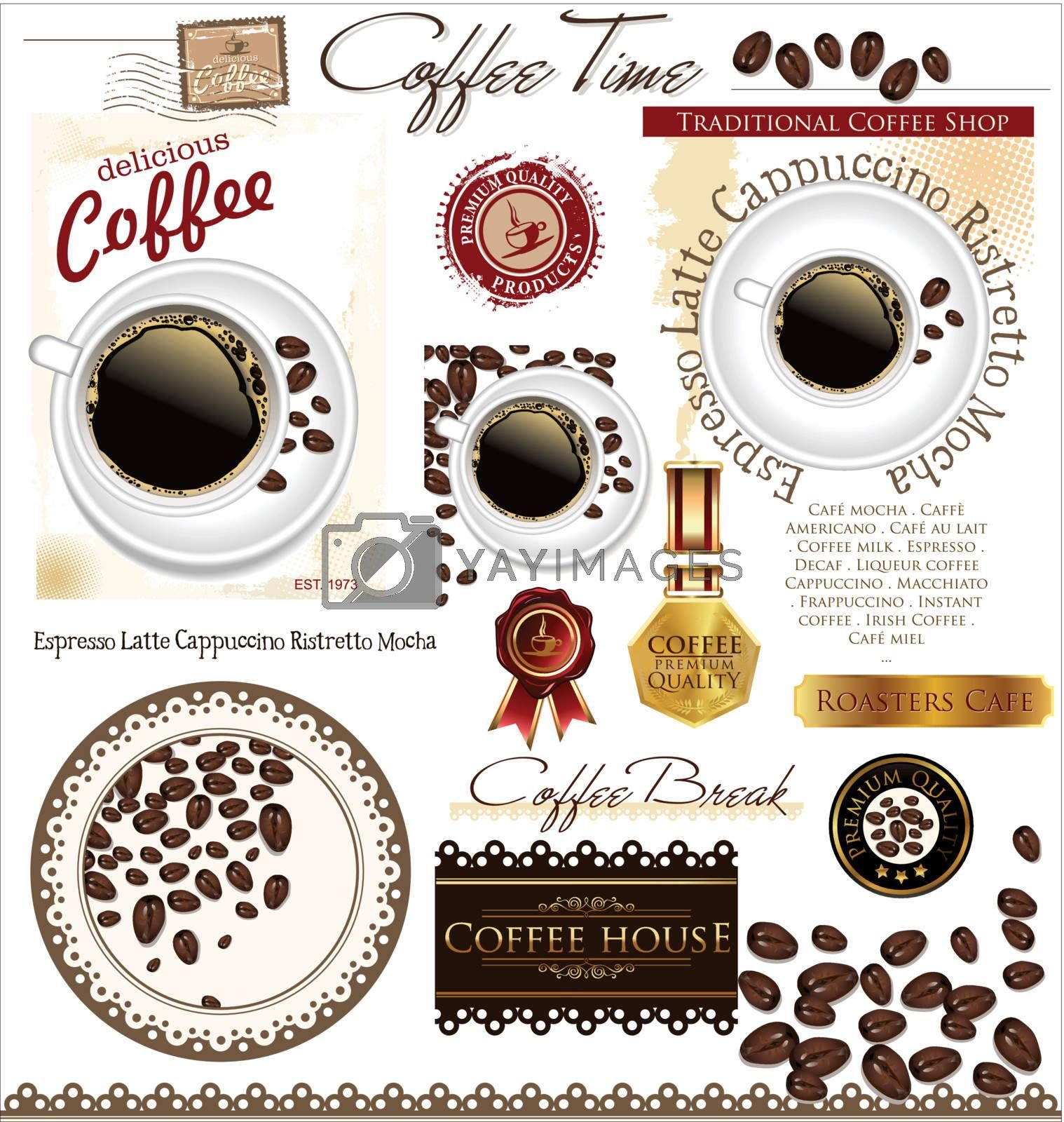 Coffee elements by rastonen