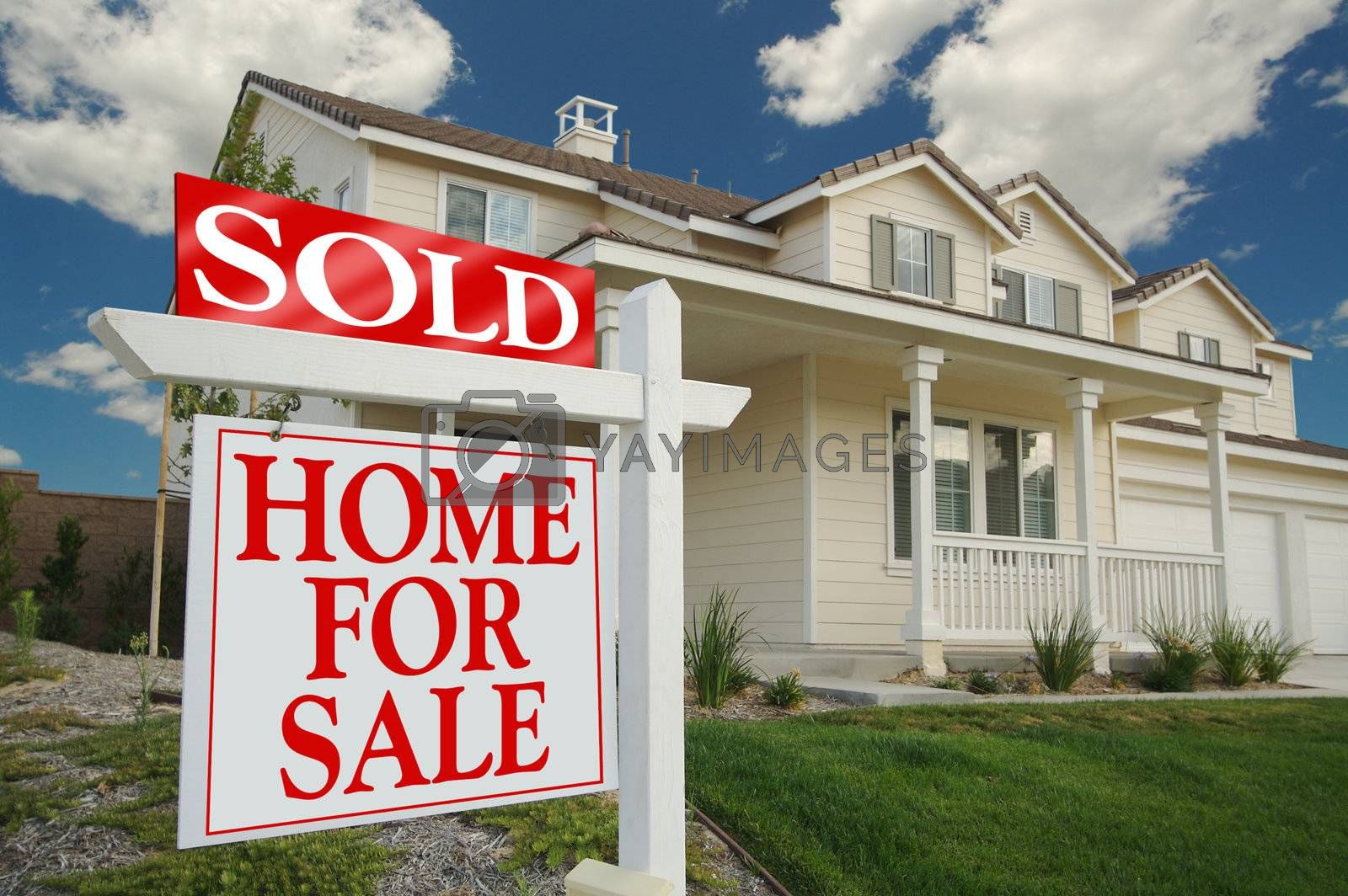 Sold Home For Sale Sign by Feverpitched
