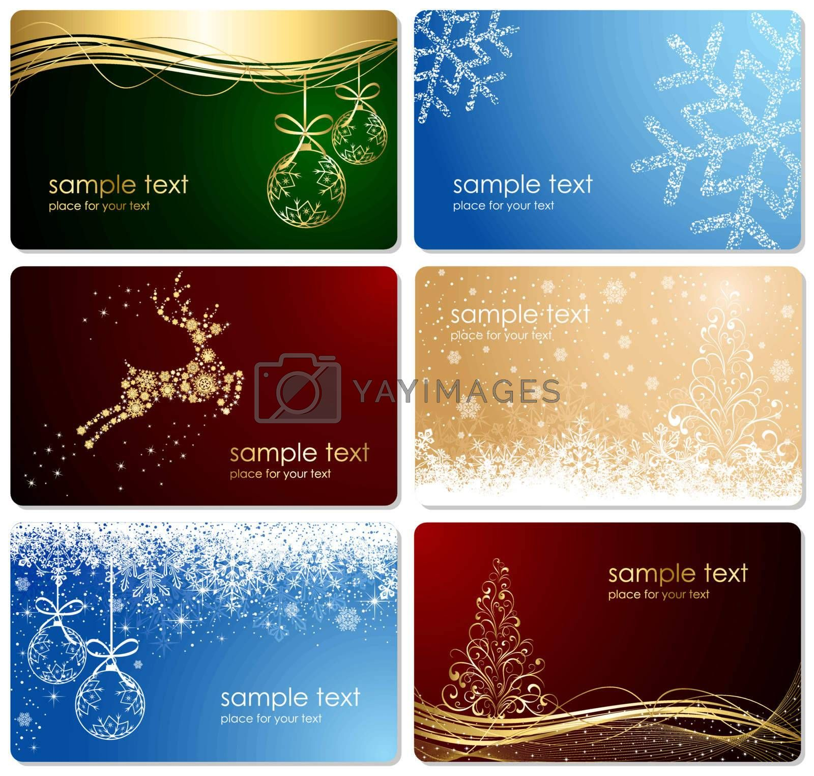 Vector with an abstract Christmas background