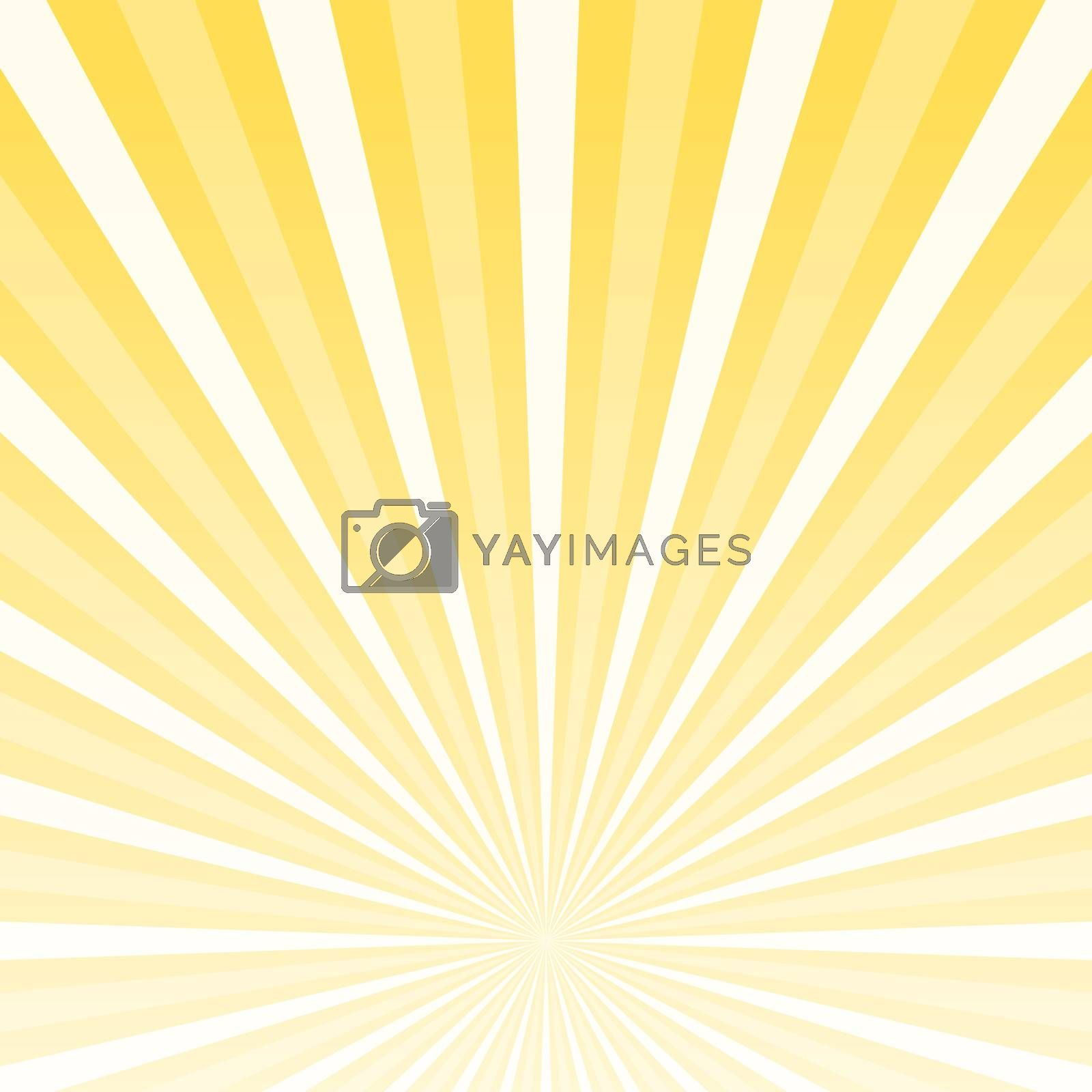 Striped Yellow and White Background with lowered horizon