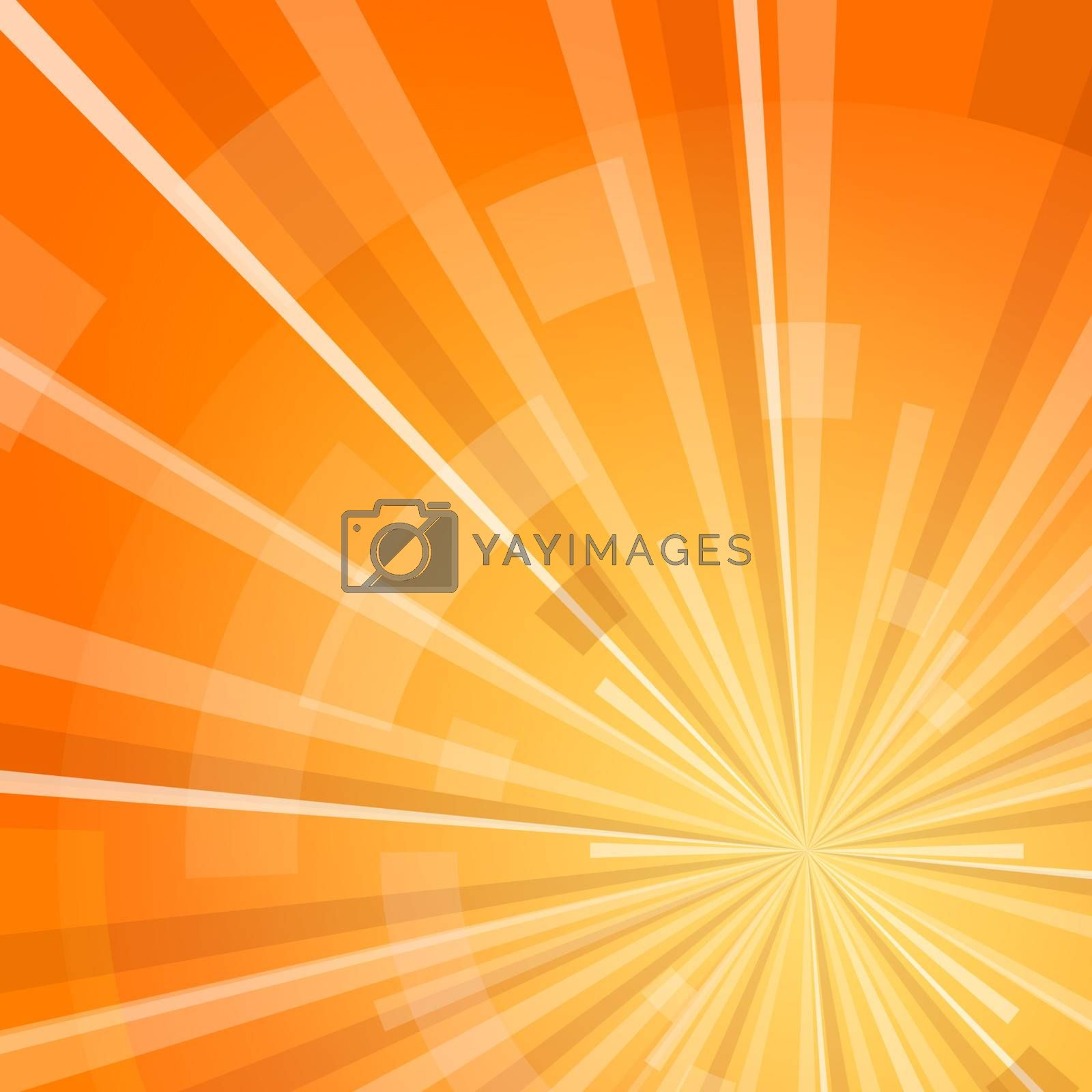 Yellow and Orange digital shine with transparent particles around