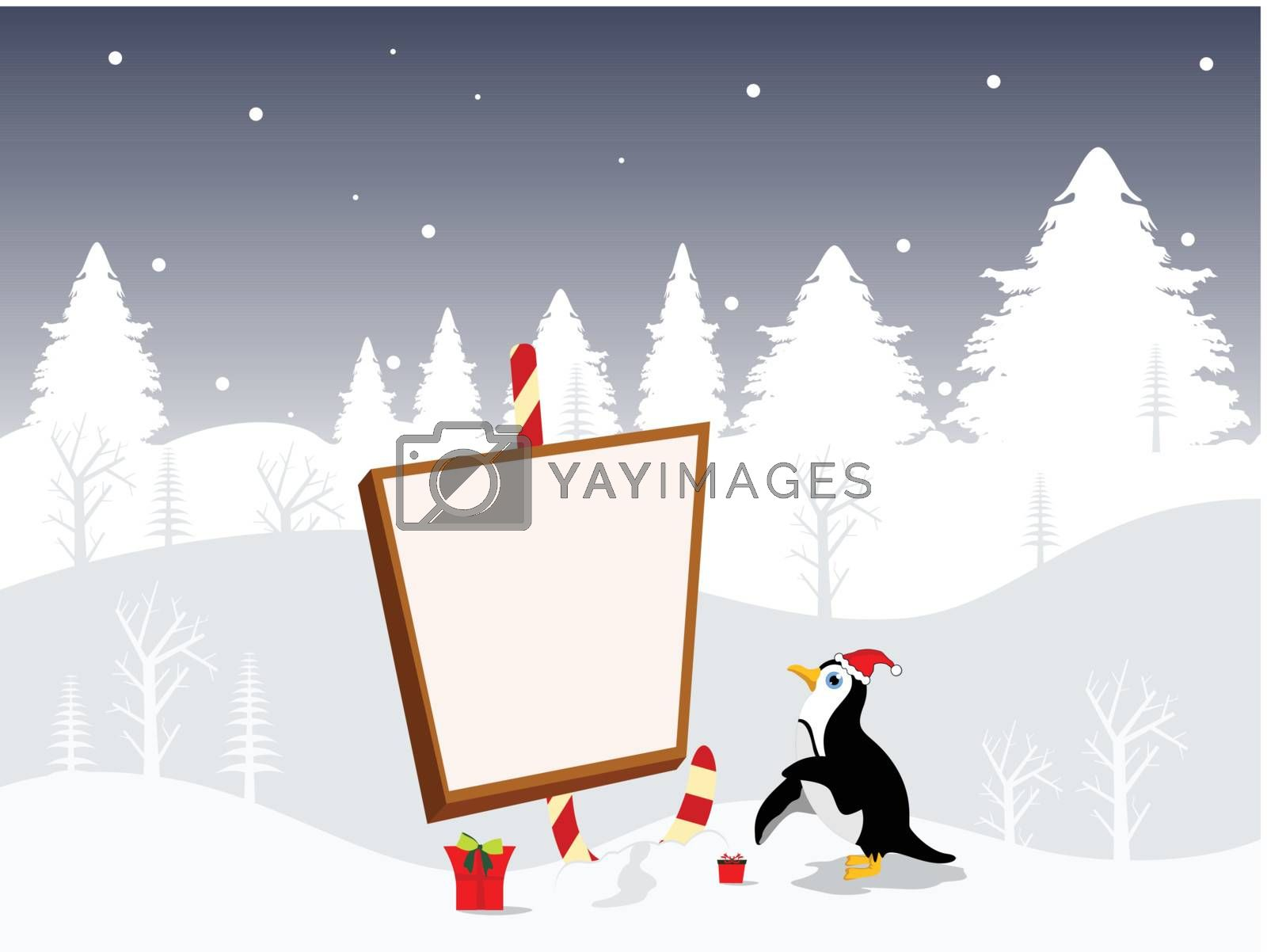 Christmas background with place for your text. vector illustration