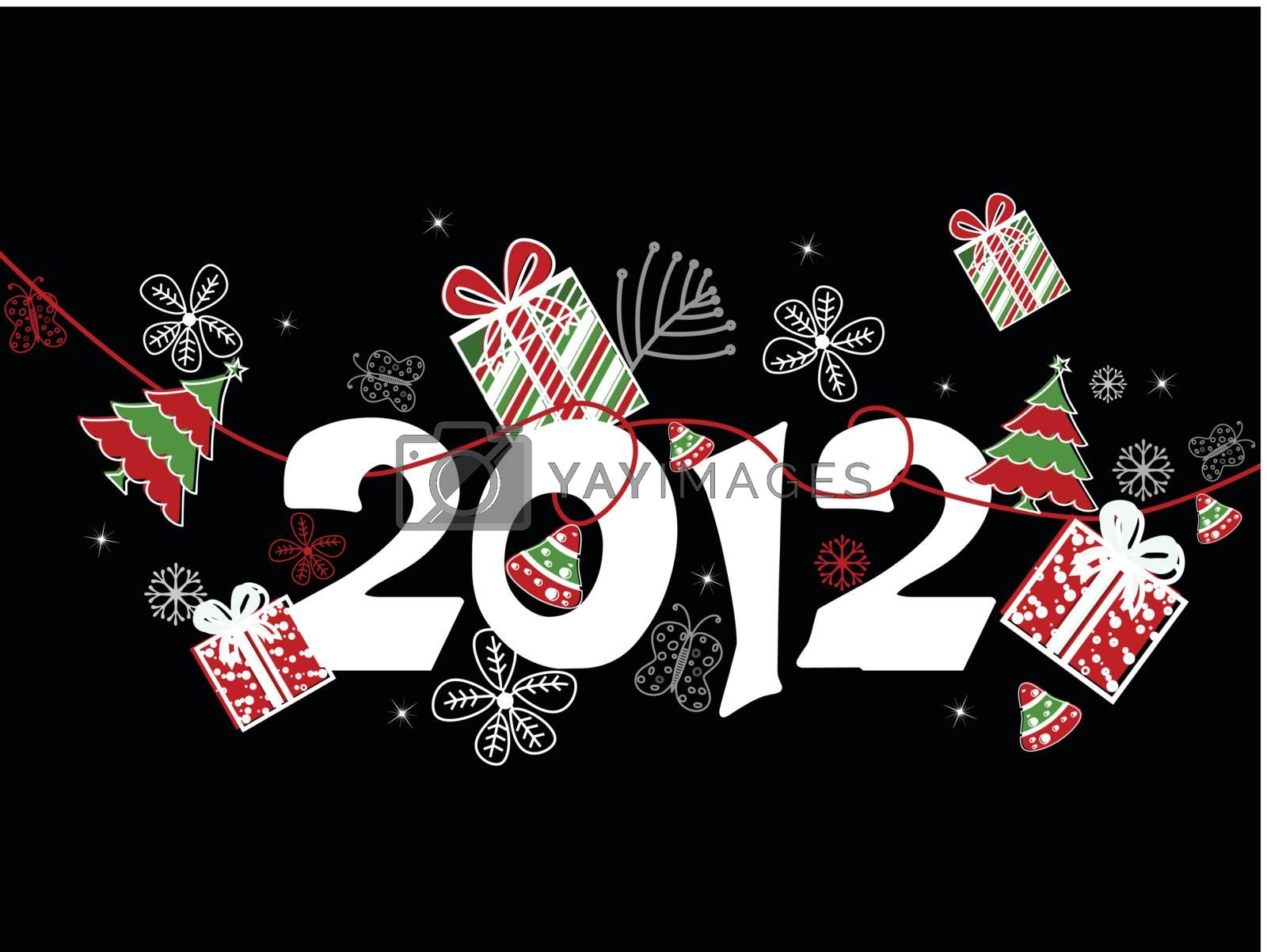 creative artwork design composition background for happy new year celebration