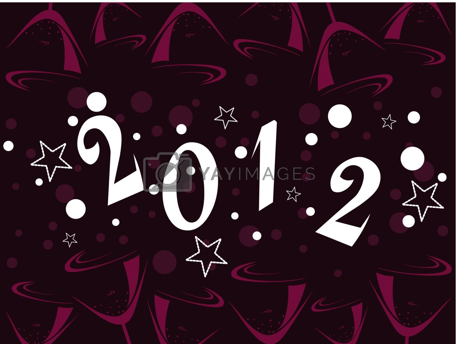 vector illustration with stylish text for new year