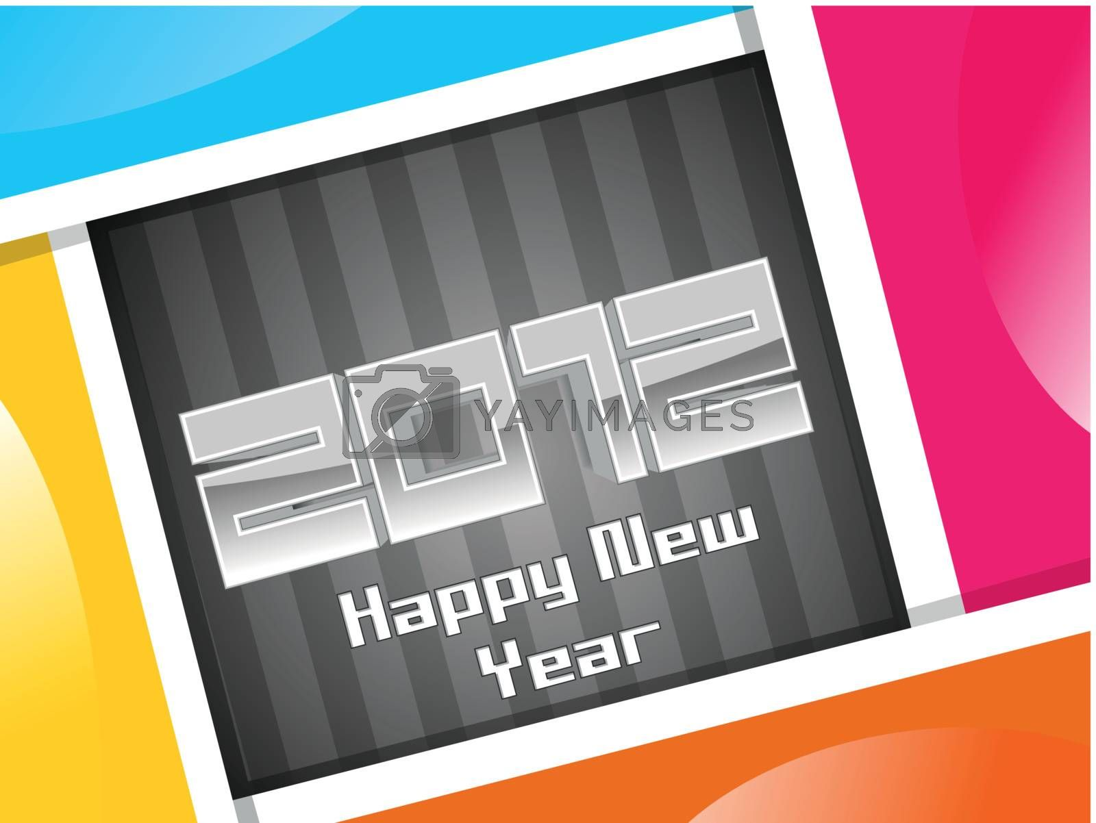 colorful abstract background for happy new year 2012