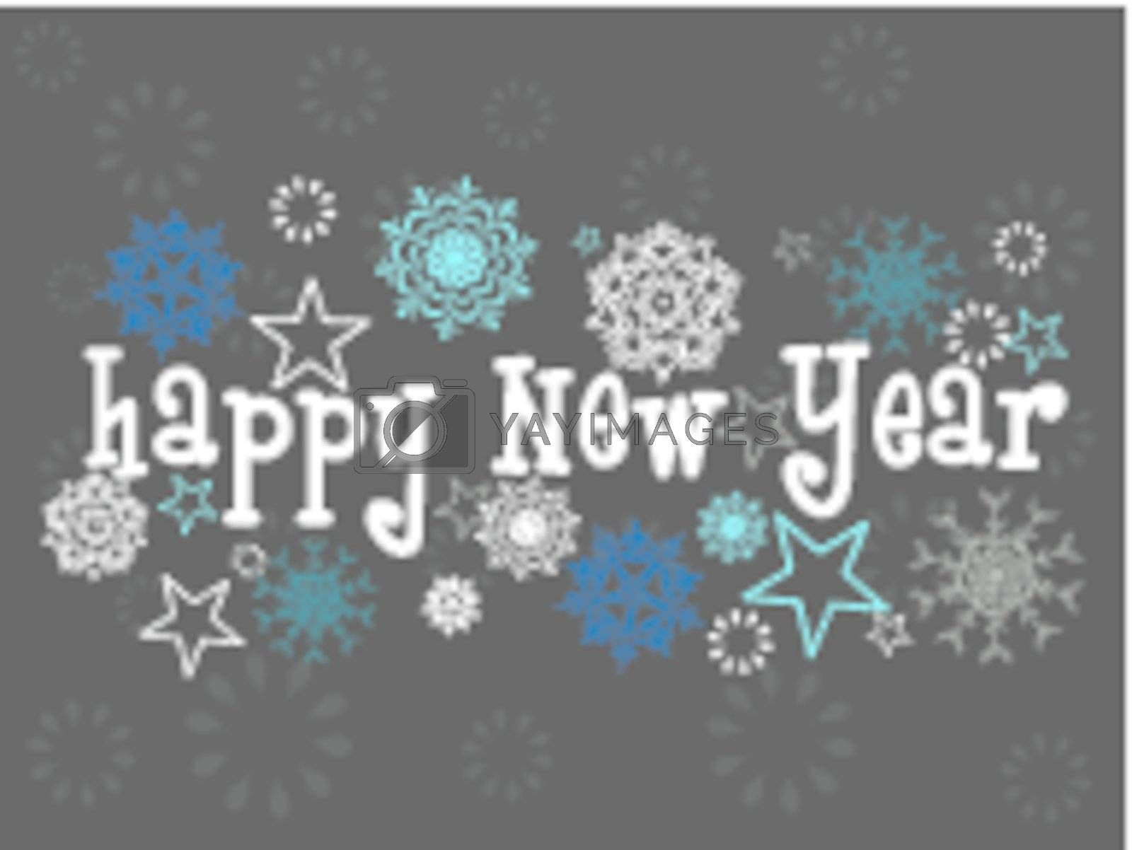 abstract elegant snowflakes concept background for happy new year