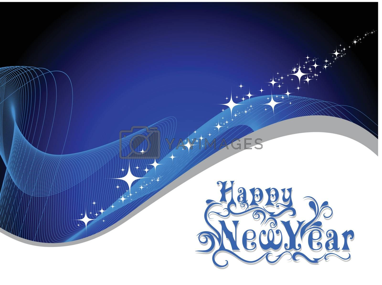 wave  background illustration for new year 2012