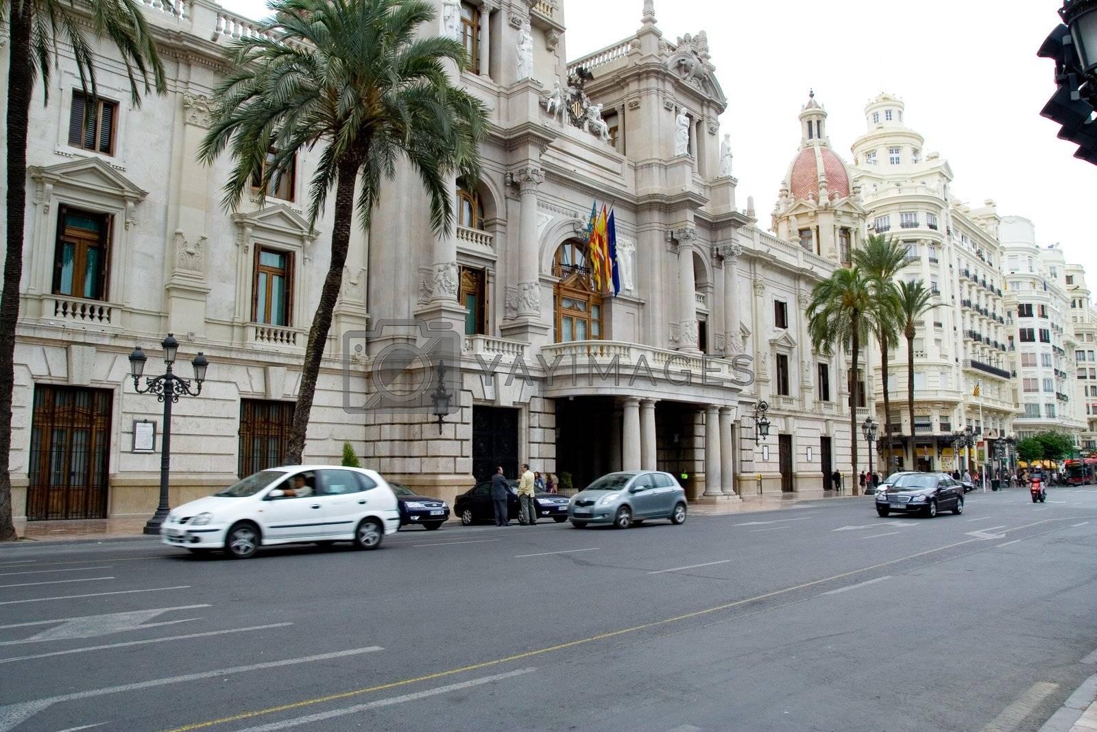 City Hall Building in Valencia, Spain
