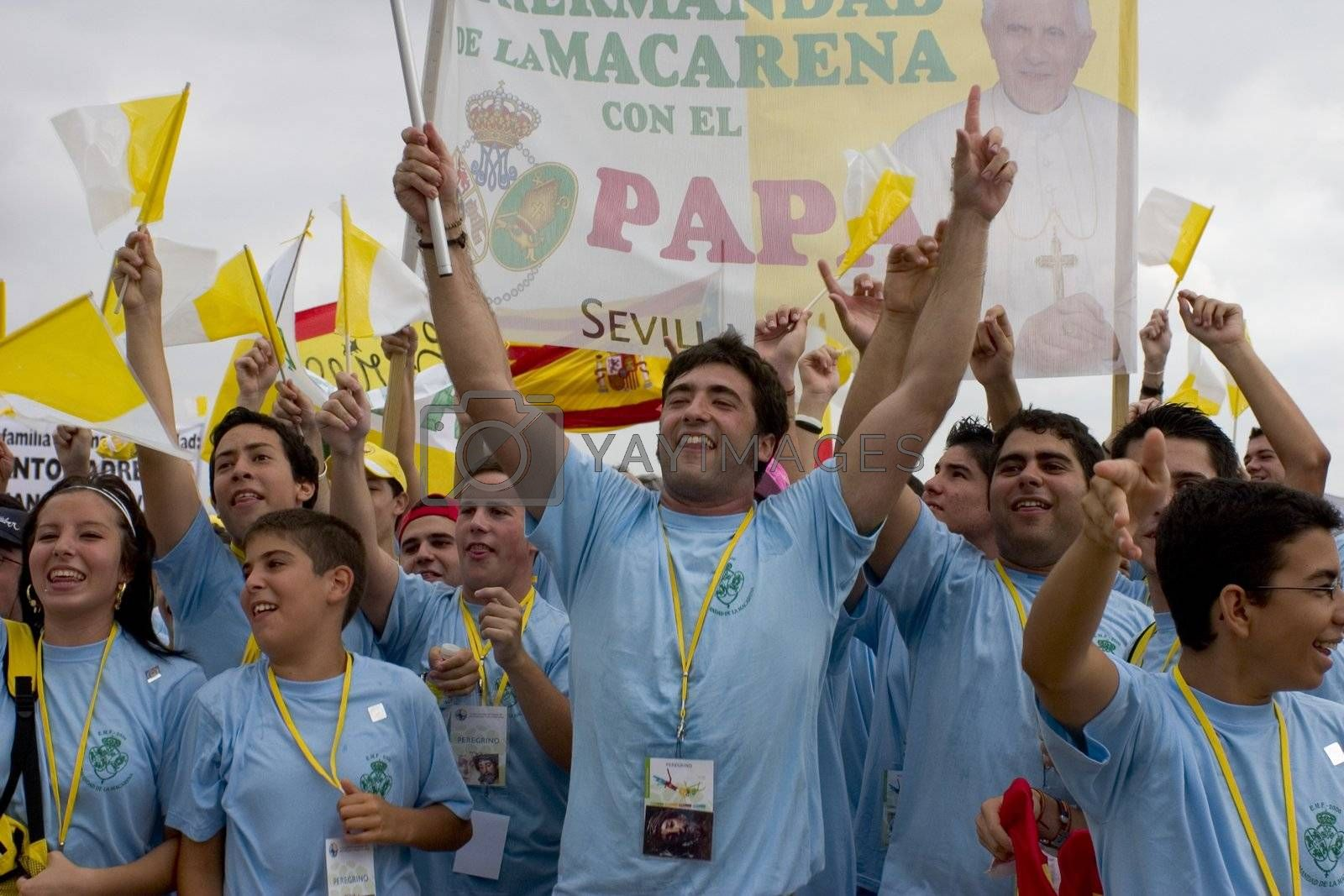 The crowd at the Pope Visit in Valencia, Spain.