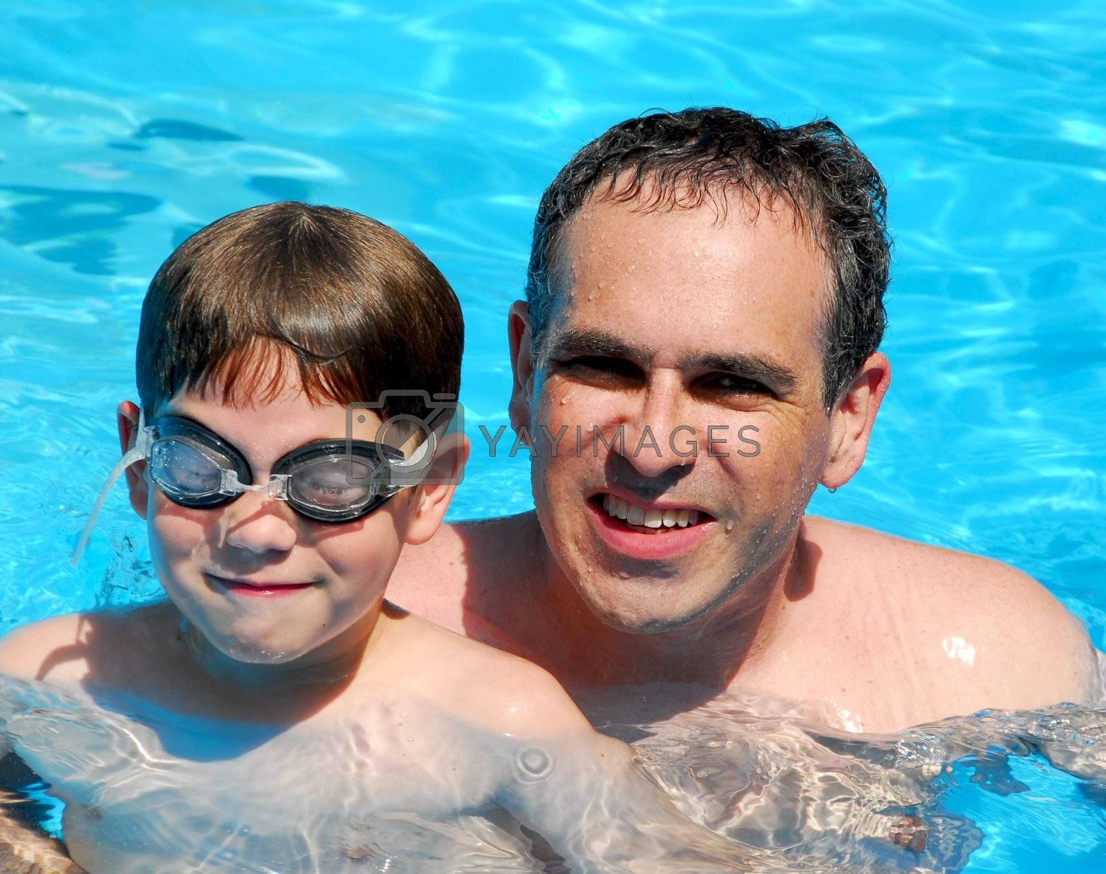 Father son pool by elenathewise