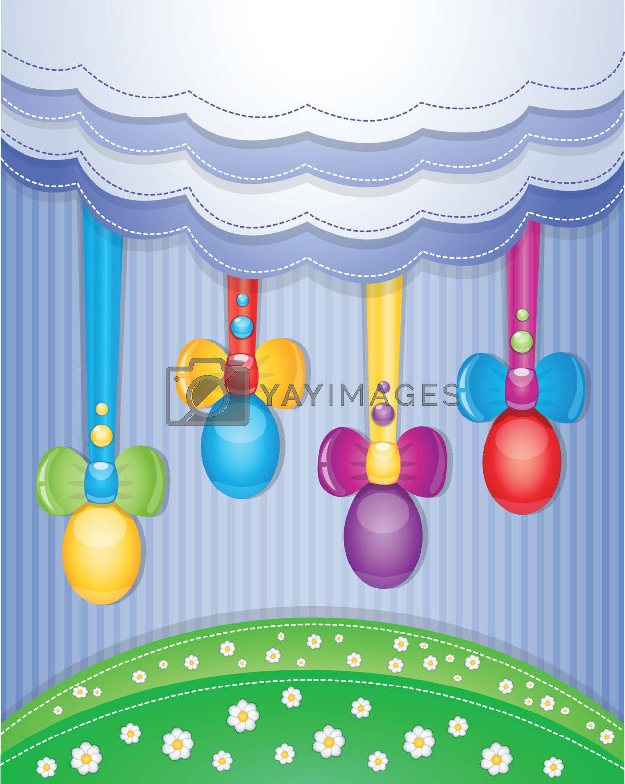 Colorful scrapbook with eggs. Illustration 10 version