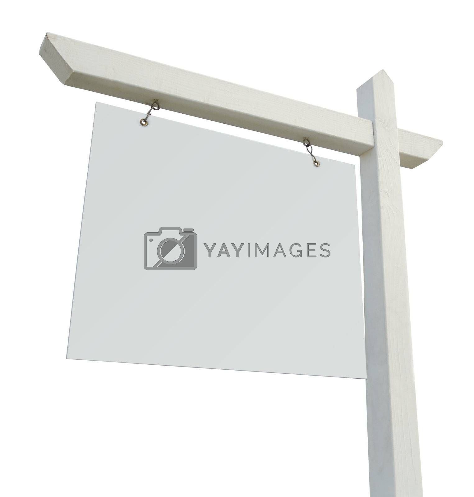 Blank Real Estate Sign Isolated  by Feverpitched