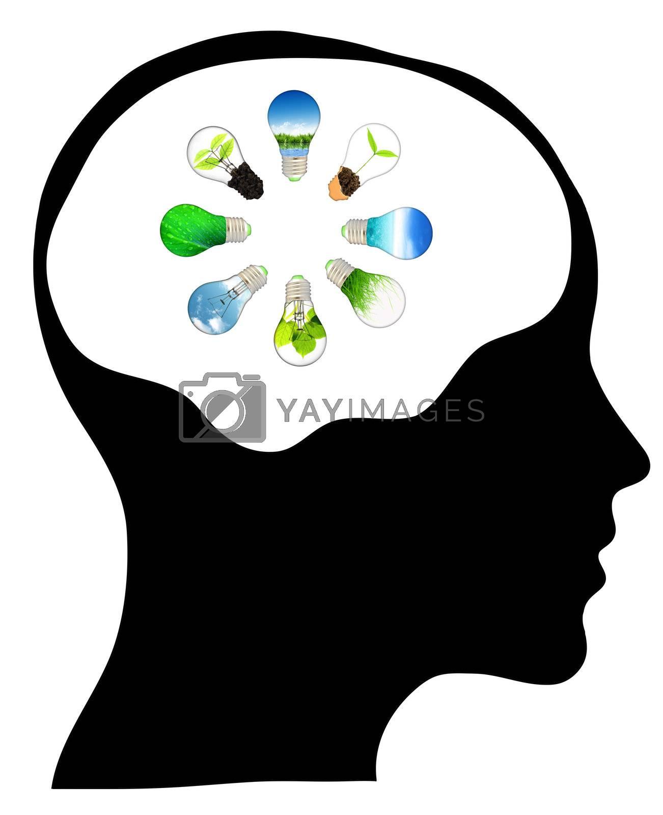 Think green – human mind
