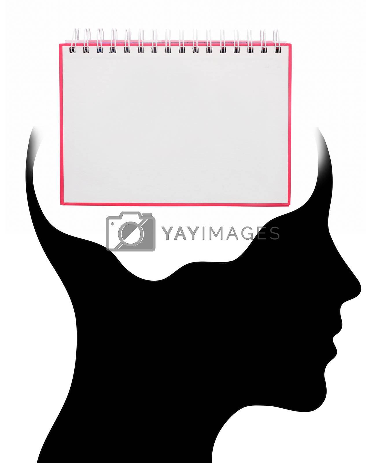noteBook in Human Head