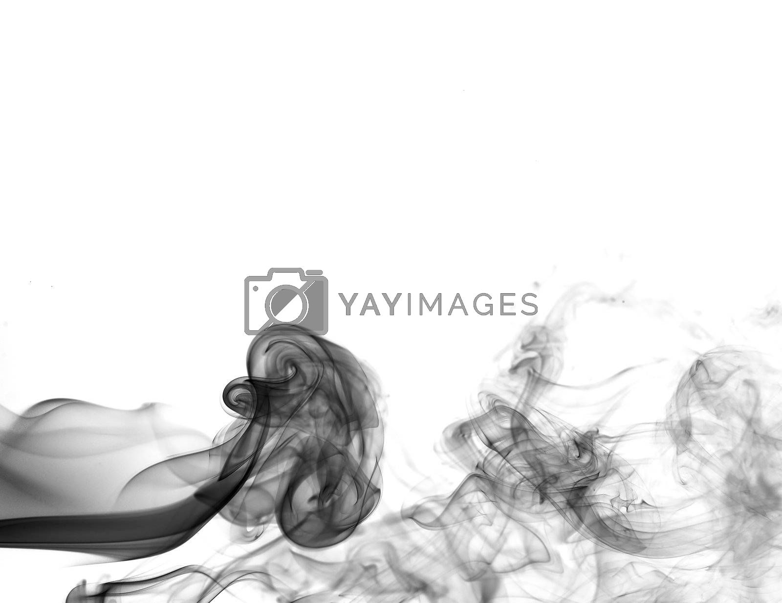 abstract smoke shot in white