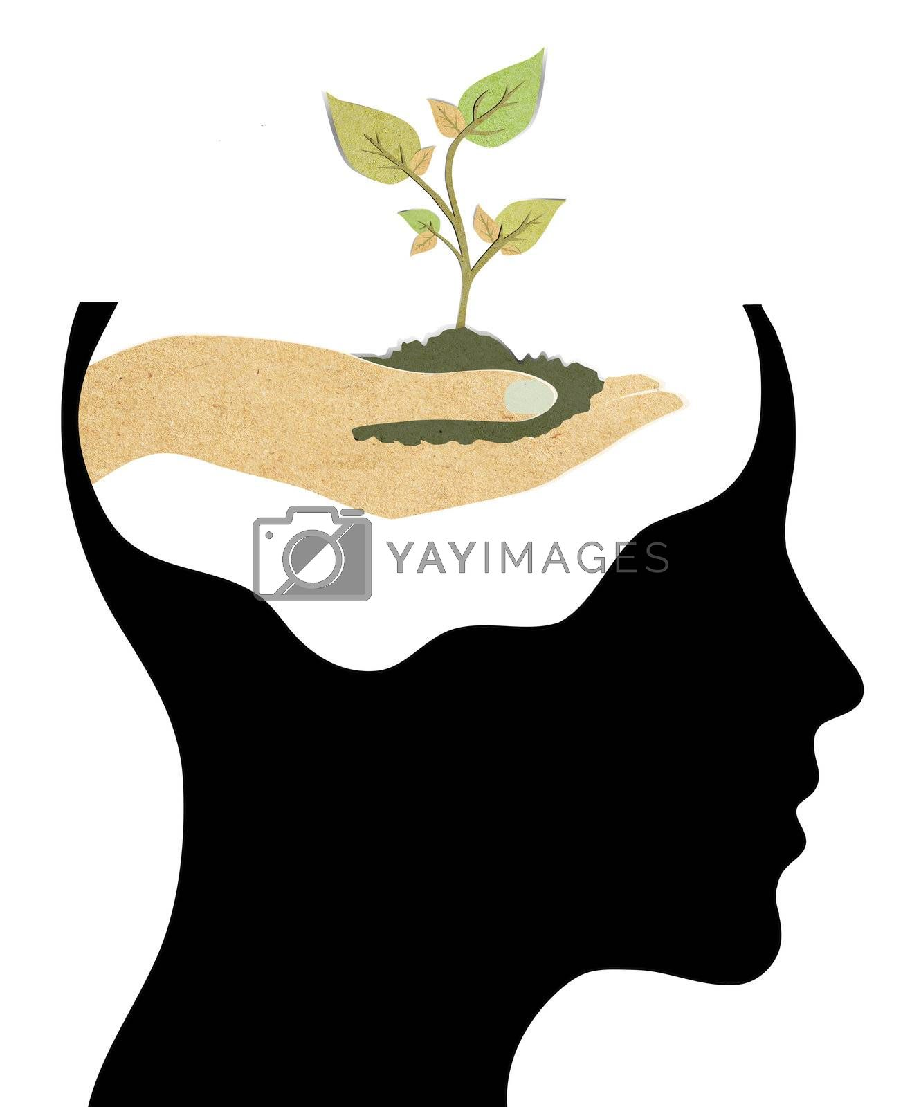 ecology symbol in human head,