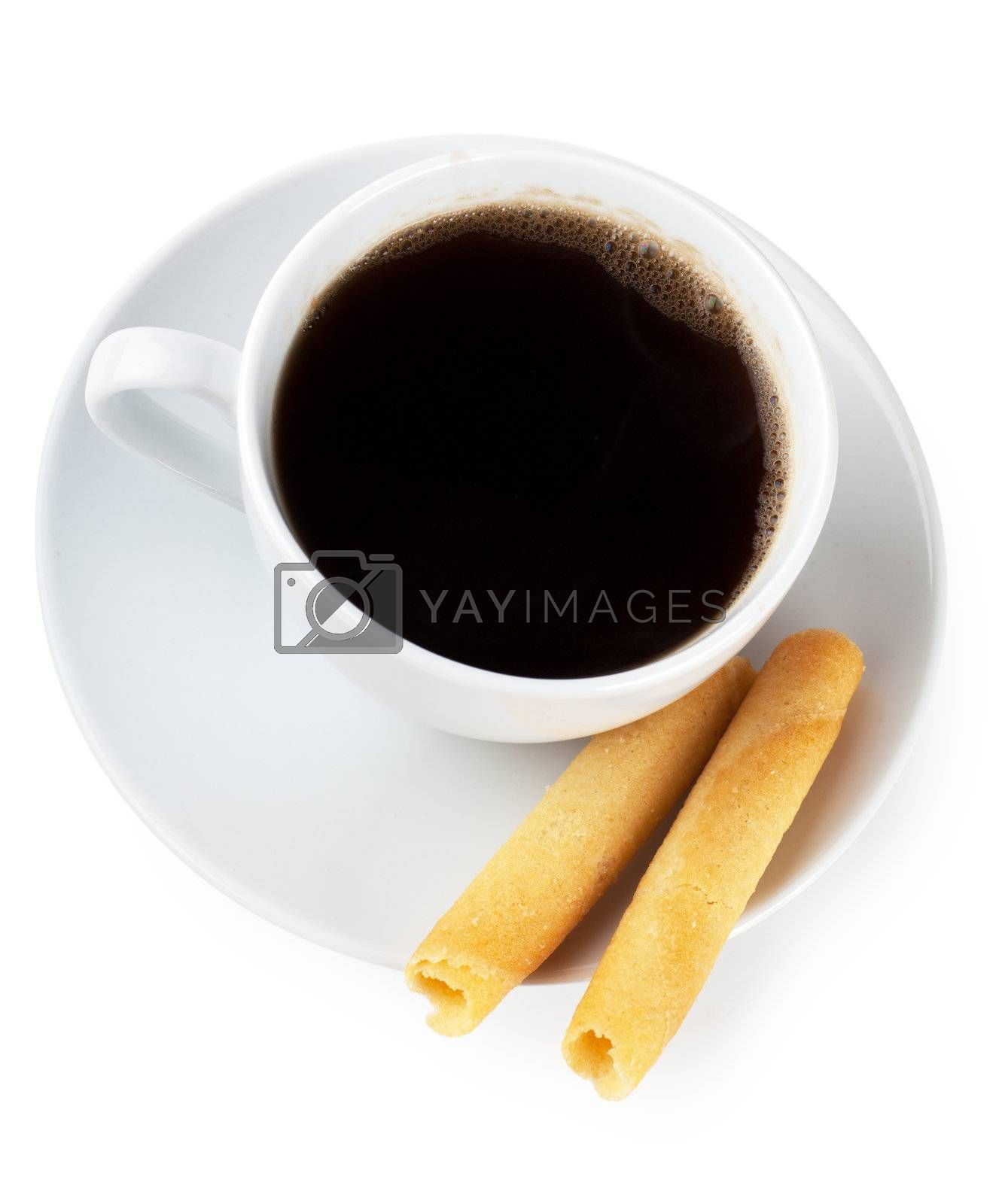Royalty free image of Coffee and cookies by AGorohov