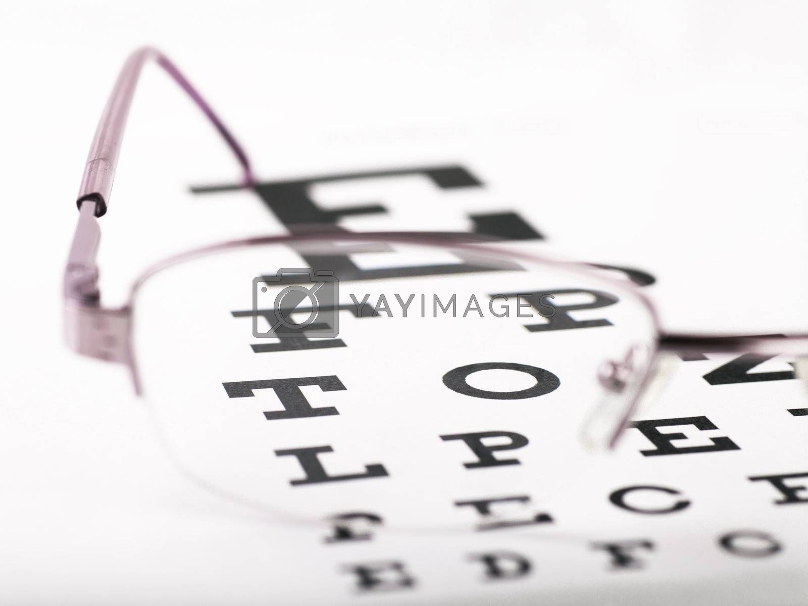 Royalty free image of Eye chart by AGorohov