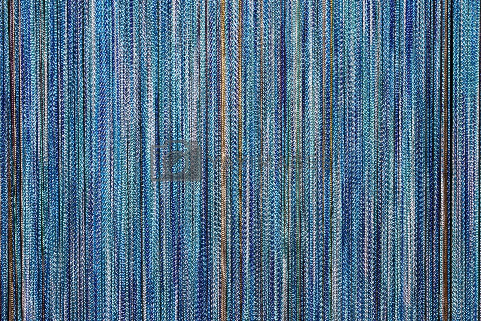 trendy blue background made of differently blue colored strings