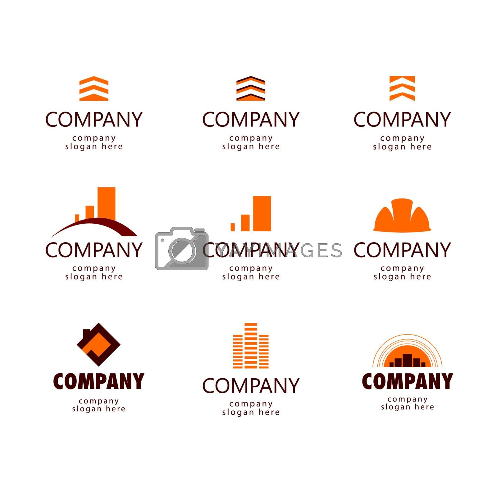 Construction and Real Estate logo by Butenkov