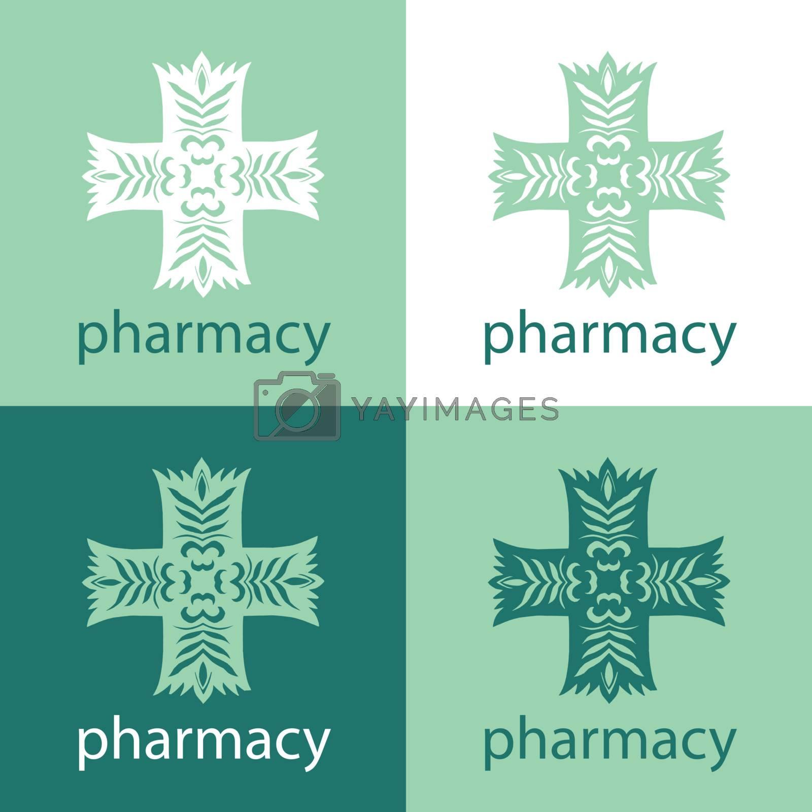 pharmacy logo by Butenkov