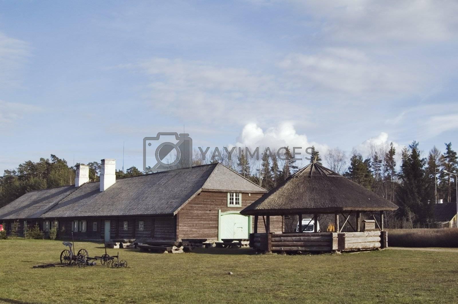 Rural landscape. Tavern in Viitna. Estonia.