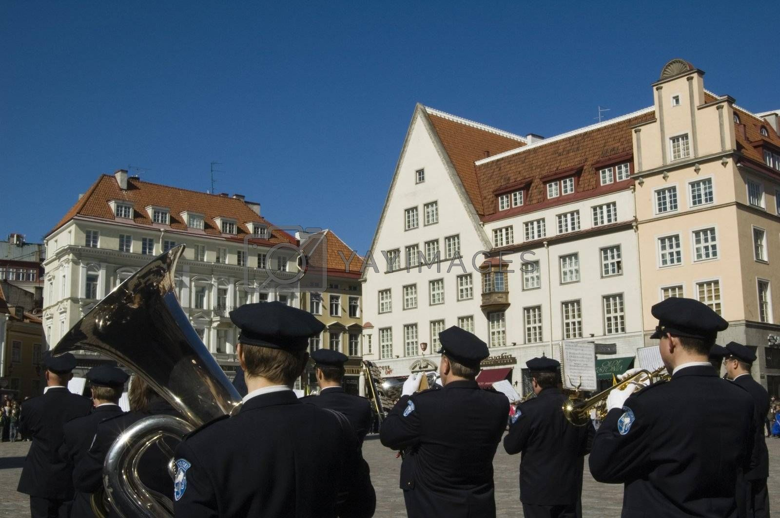 Plays a police orchestra in Tallinn