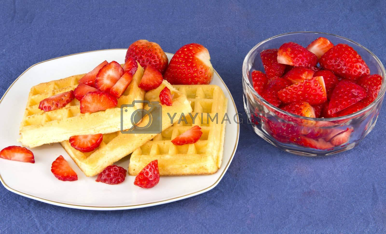 strawberry and waffle