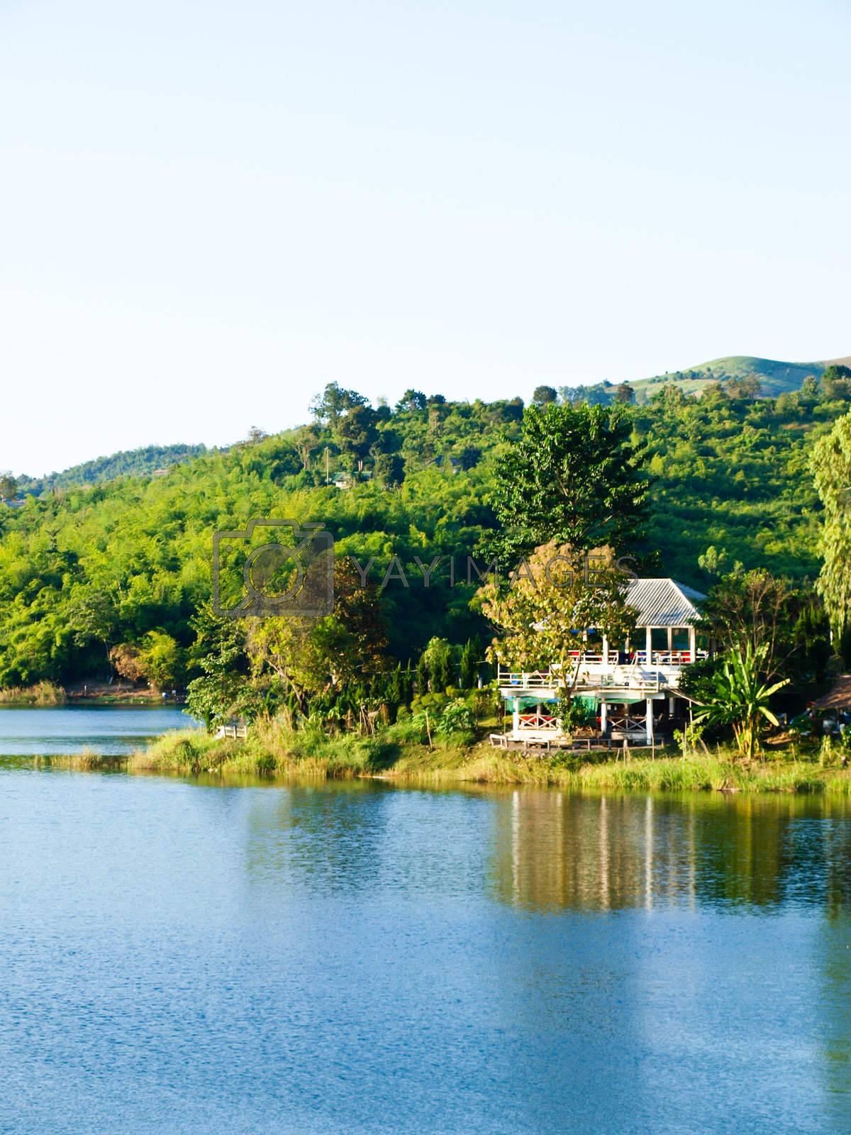 House nearby Mae Suay reservoir, Chiang rai, Thailand