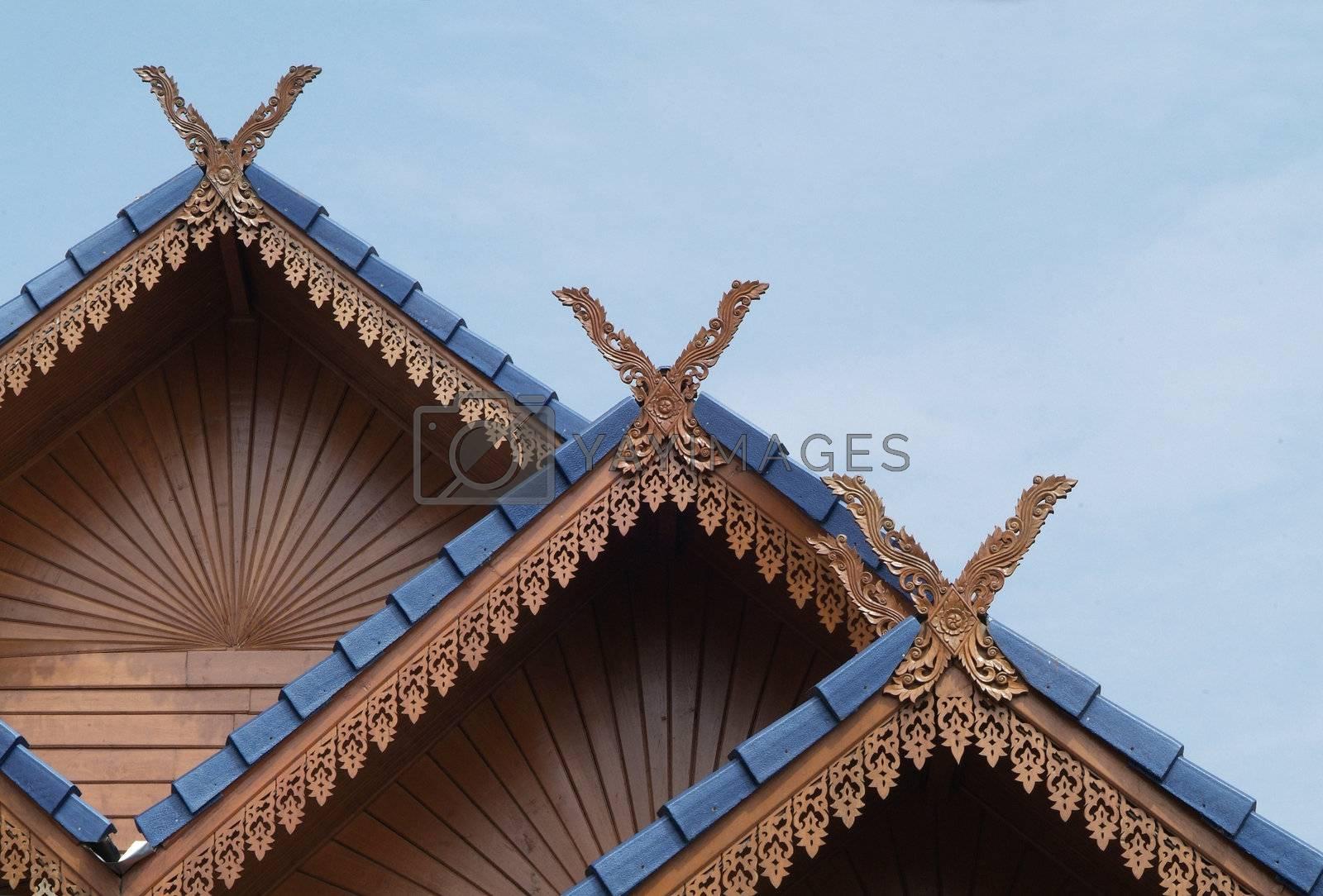 Classic Thai architecture by epixx