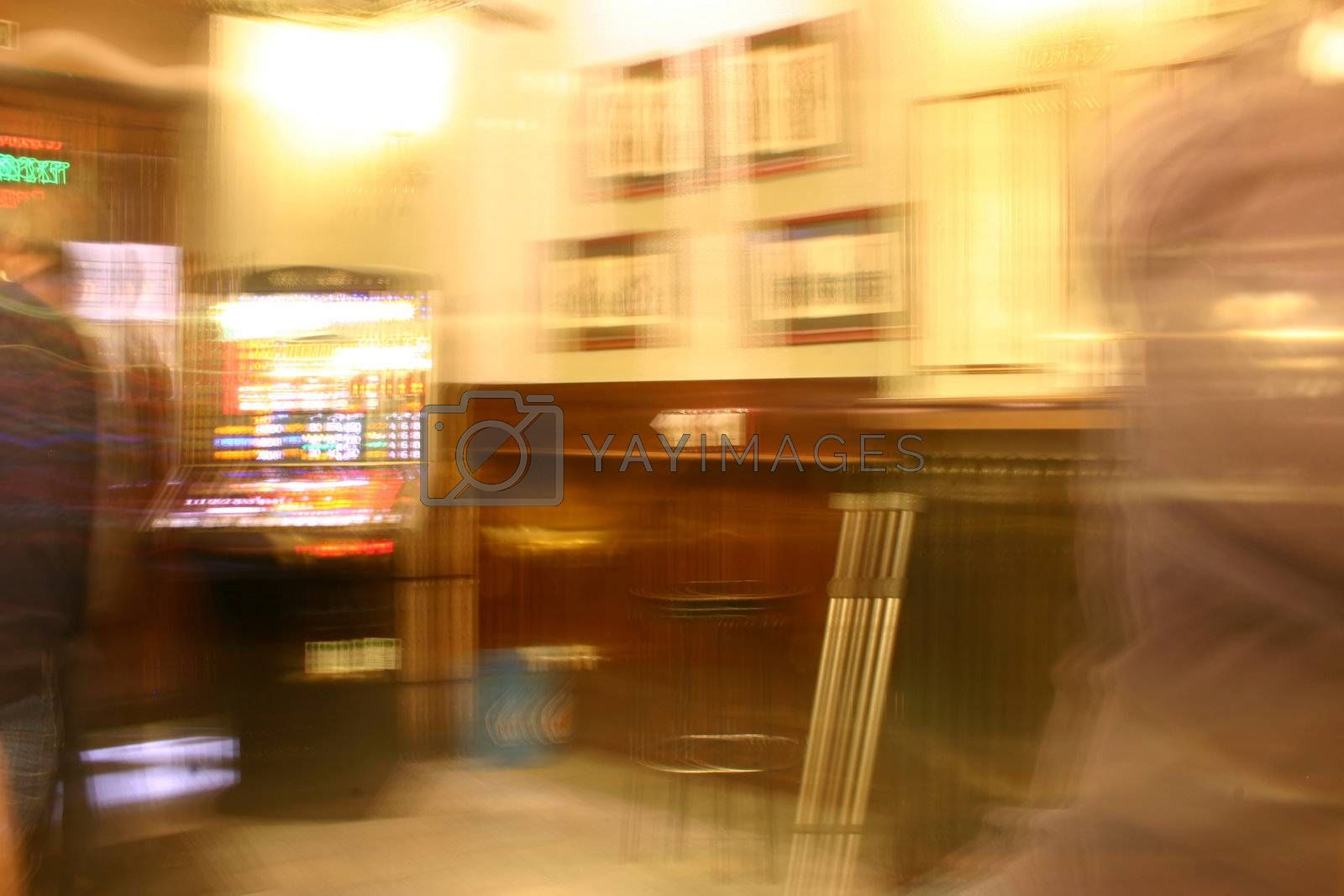 bar as it would be seen by a completely drunken person