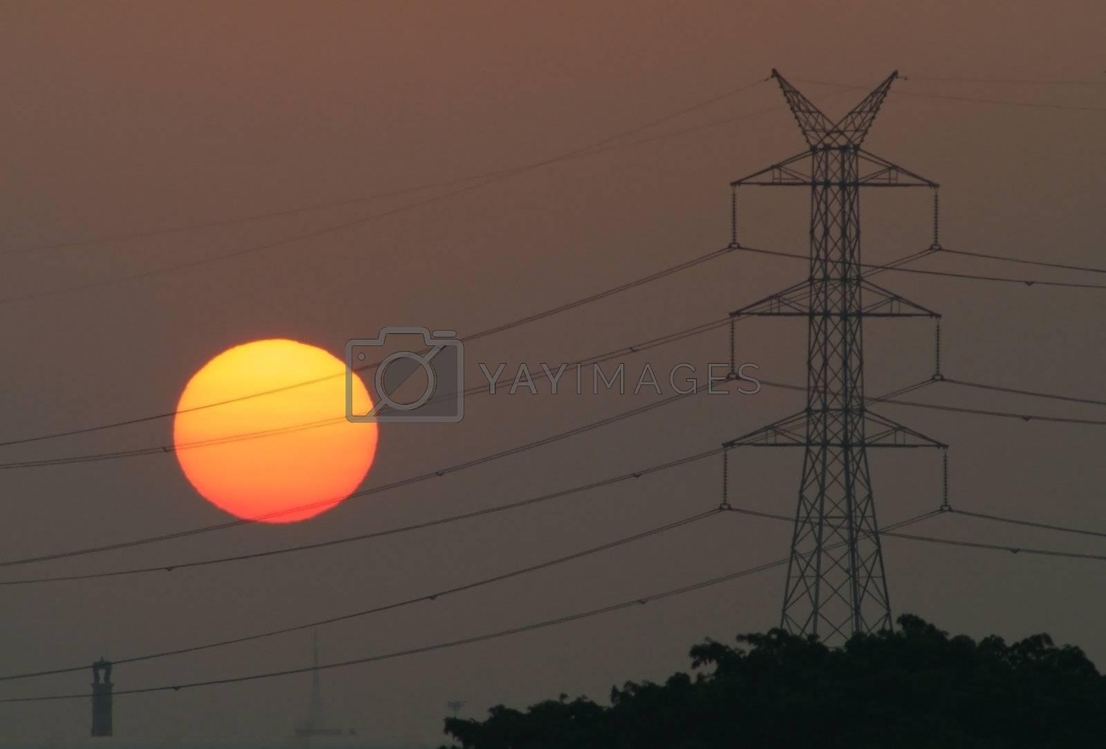 Hazy industrial sunrise by epixx