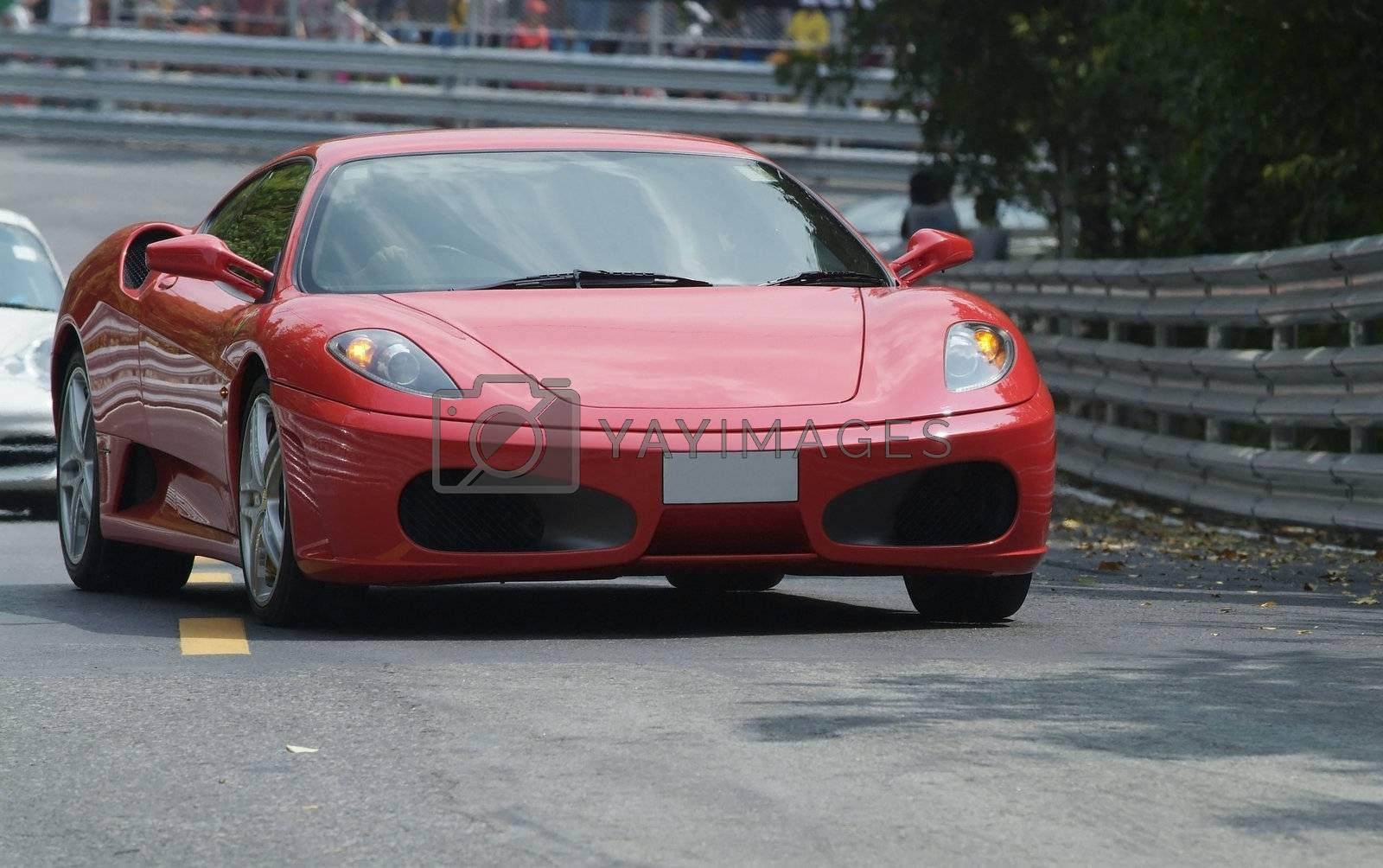Red, Italian sports car by epixx