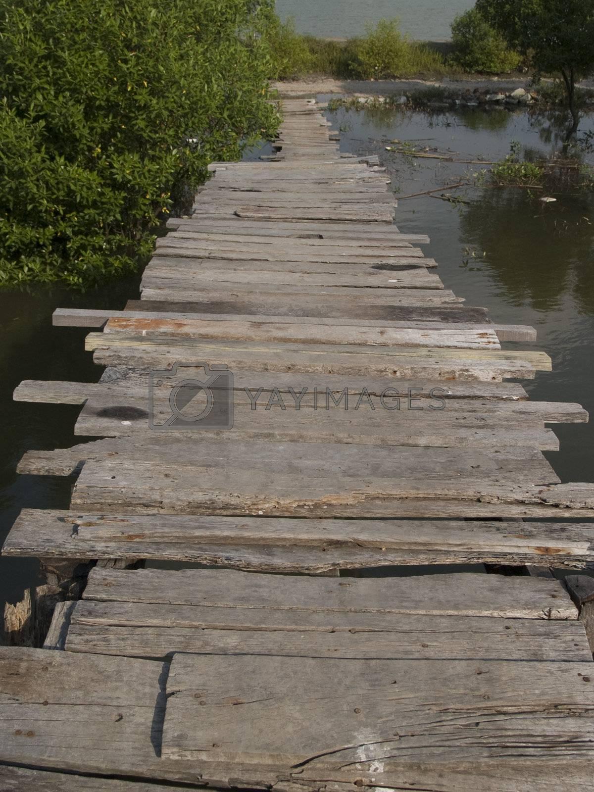 Old, wooden bridge by epixx