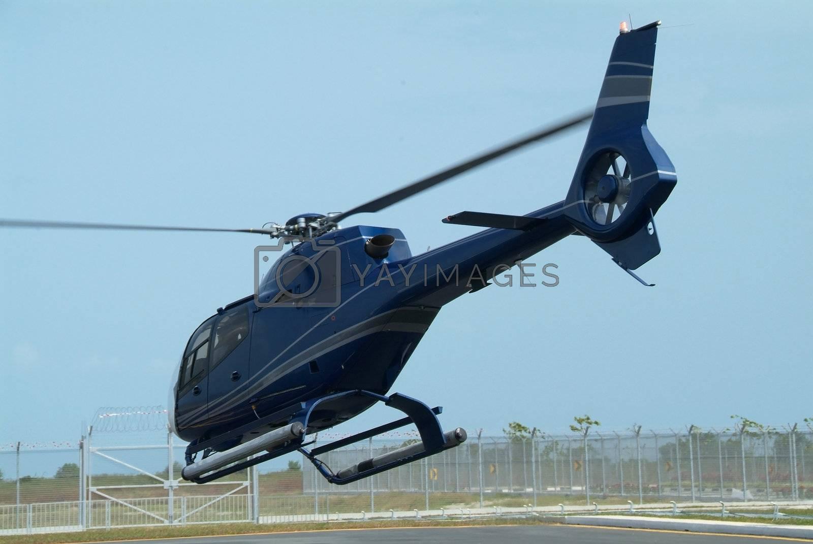 Dark blue helicopter by epixx