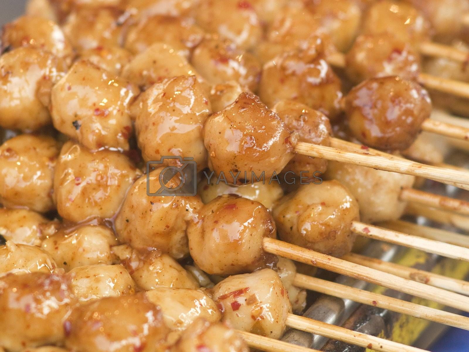 Meatballs with chili sauce by epixx