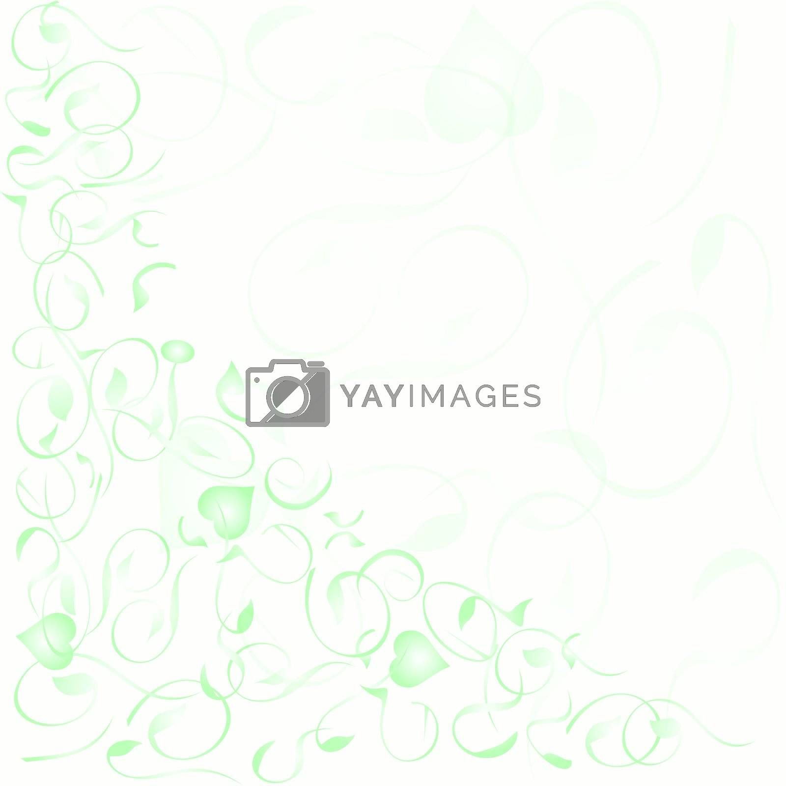 flower decoratively romantically abstraction vector background