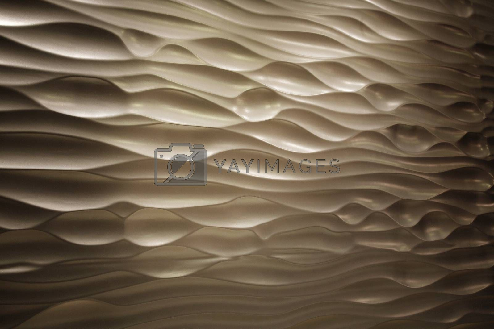 wave pattern craft on the wooden surface