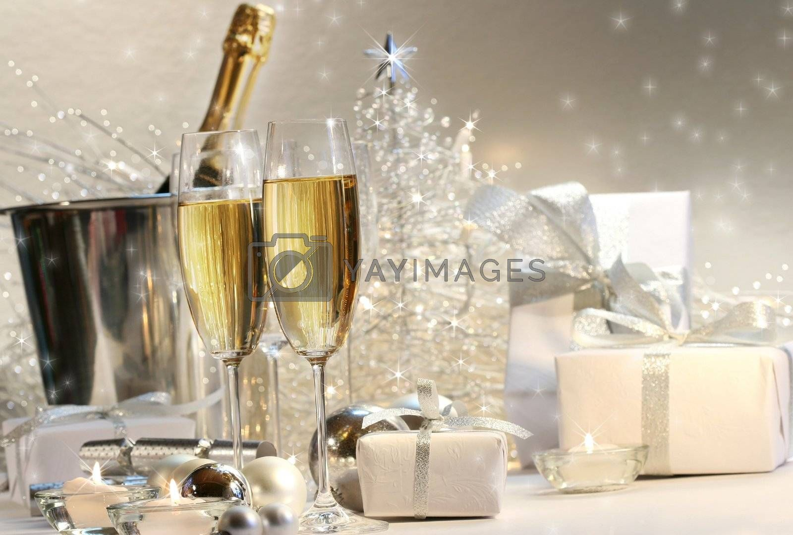 Champagne glasses by Sandralise