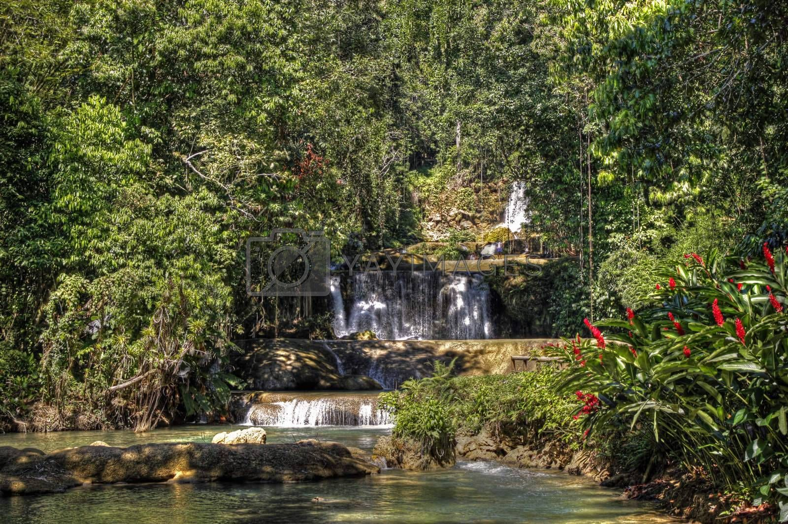 YJ falls in Jamaica with water pools